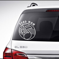 Marching Band Car Decal Vinyl Lettering Bumper Sticker Marching Band Mom Car Decal