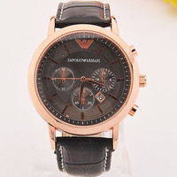 Europe and the United States hot fashion men quartz watch high-grade leather watch calendar aliexpress explosion