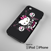 Gold Hello Kitty A1005 iPhone 4 4S 5 5S 5C 6, iPod Touch 4 5 Cases
