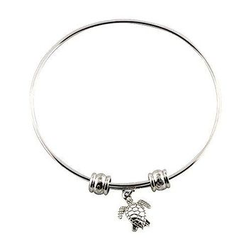Sea Turtle Charm Bracelet Bangle Jewelry Great Hawaiian Gift for Women Men Boys and Girls to Wear at the Beach Not Created From Hemp