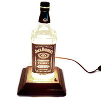 Jack Daniels Light /Man Cave/ Table Lamp/Reclaimed by BrownieGifts