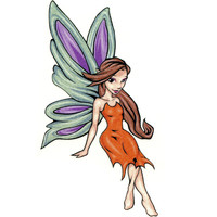 Mythical Organe Fairy Temporary Tattoo 2.5x3.5