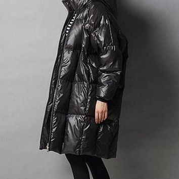 7XL plus size fashion brand hooded 90% duck down jacket female longer thicker down feather filler warm coat wj1469