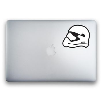 Star Wars Episode VII: The Force Awakens Stormtrooper Helmet 2-Color Sticker for MacBooks and Apple Devices