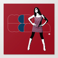Mod Woman Canvas Print by Matt Irving