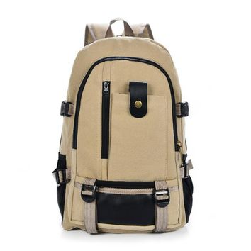 Boys Backpack Bag school bags for teenagers men's canvas  big capacity mountaineering Travel  Middle school student couple bag AT_61_4