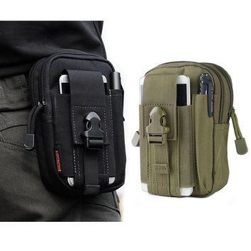 Military Tactical Holster Hip Belt Bag Waist Sport Phone Case For iPhone 4 5 5C 5S SE 6 6S 7 Plus Outdoor Sport Bags Cover