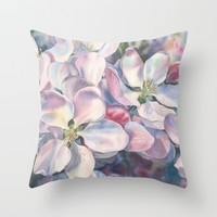 """Blossoming apple-tree"" Throw Pillow by Emma Reznikova"