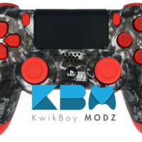 The Red Reaper Dualshock 4 PS4 Controller