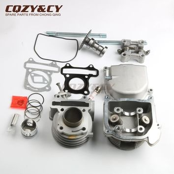 Scooter 39mm Cylinder Kit & NON EGR Cylinder Head for SACHS 49er 50 AC Bee 50cc FY50QT-5 GY6 139QMB 4-stroke