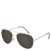 Alice Revo Aviator Sunglasses - Silver