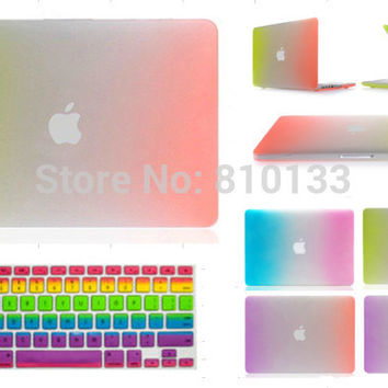 "New Arrival 4 Hot Rainbow Colour Hard Matte Case Air 11"" 13"" /Pro 13"" 15""/Retina Pro 13"" 15"" with Keyboard Cover"