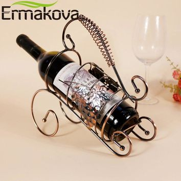European Vintage Bronzed Metal Antique Wine Bottle Holder FREE SINGLE-ITEM U.S. SHIPPING*