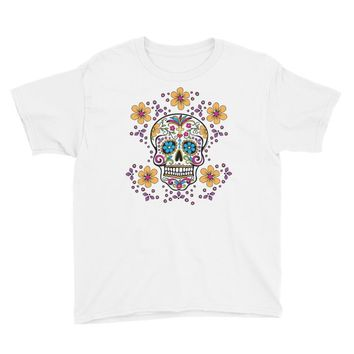 Sugar Skull Day of the Dead Youth Short Sleeve T-Shirt