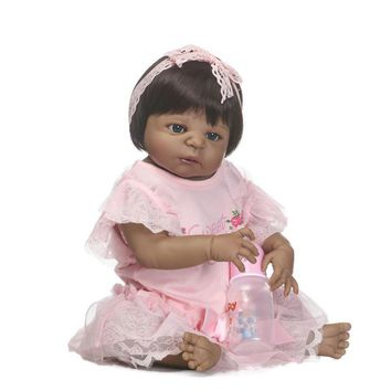 Realistic Indian Baby Doll 23   Girl Black Skin Reborn Baby Doll e08521605b00