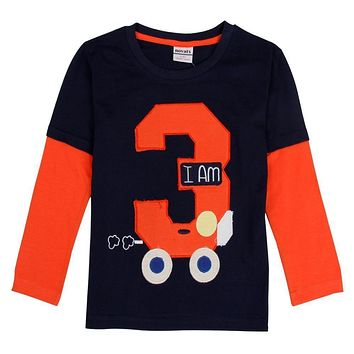 retail nova kids baby boys clothing 2016 full sleeve geometric boy t-shirt 2016 new design children boys baby clothing top tee