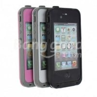 Black Color Waterproof Shockproof Pc Case Life Dirt Proof Cover Fits Apple Iphone 4 4s