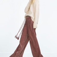 FLOWING VELVET TROUSERS