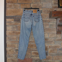 Vintage Levi's 950 Jeans  High Waisted Denim   Junior Size 5 (Modern day size 0 or 3)  Stonewash