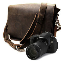 14 MissionCameraBag   Brown Thick Full Grain by CopperRiverBags