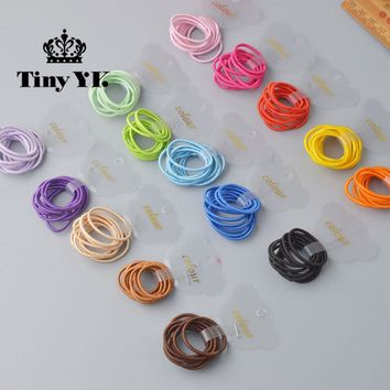 10 Pcs/ lot (1 pack) Mini 2.5mm thickness hair ropes little girls Slim hair ties kids Babe hair ropes accessories
