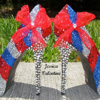 Fourth of July Glitter Heels