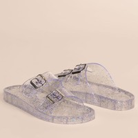 It's Just An Illusion Lucite Sandals - Clear