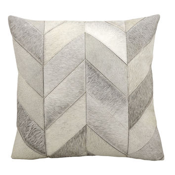 Nourison Kathy Ireland Grey Cowhide 20-inch Throw Pillow | Overstock.com Shopping - The Best Deals on Throw Pillows