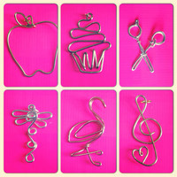 Sweet little necklace charms apple treble by QueenCityConceptions