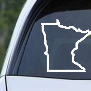 Minnesota State Outline MN - USA America Die Cut Vinyl Decal Sticker