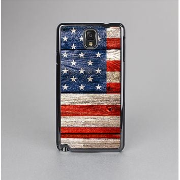 The Wooden Grungy American Flag Skin-Sert Case for the Samsung Galaxy Note 3