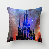 Fantasy Disney. Nebulae Throw Pillow by Guido Montañés