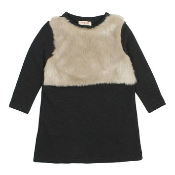 Amelia Girls' TIZI Fur Dress