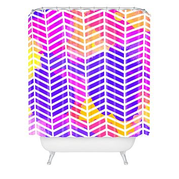 Rebecca Allen Purple Bliss Shower Curtain