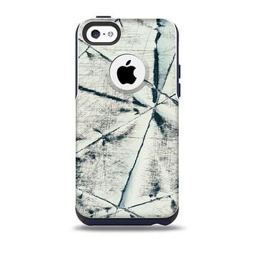 White Cracked Woven Texture Skin for the iPhone 5c OtterBox Commuter Case