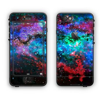 The Neon Colored Paint Universe Apple iPhone 6 LifeProof Nuud Case Skin Set