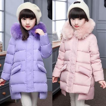 Fashion Girl's jacket down Jackets Coats warm Kids baby thick duck Down jacket Children Outerwear cold