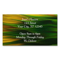 Sunflower magnetic Business Card