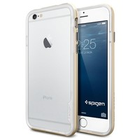 iPhone 6 Case, Spigen® [Neo Hybrid EX] Bumper [Champagne Gold] Dual Layer Slim Bumper Case for iPhone 6 (2014)  - Champagne Gold (SGP11028)