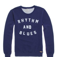 Rhythm Blues Crew Fleece - Mens Hoodie - Blue