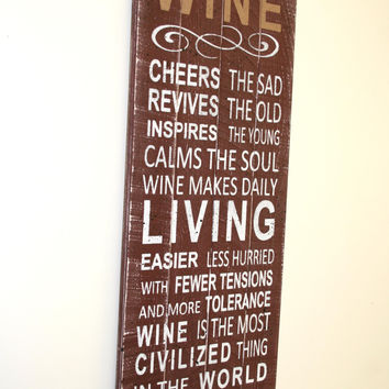 Wine Sign Pallet Wood Sign Kitchen Sign Dining Room Sign Wine Theme Decor Rustic Sign  Rustic Chic Primitive Wood Wall Art Kitchen Wall Art