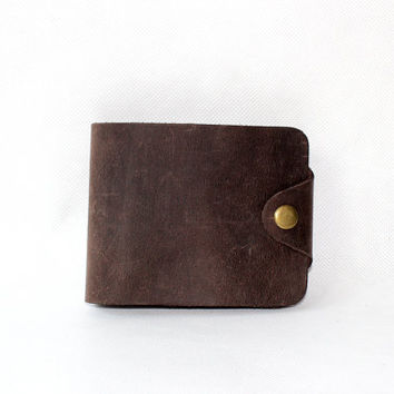 Handstitch Leather Wallet, Simple Men Leather Wallet, Men Leather Purse,slim bi-fold wallet,money clip