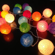 Cotton ball string lights for home decor,party decor,wedding patio,20 pieces indoor string lights ,bedroom fairy lights ,rainbow color