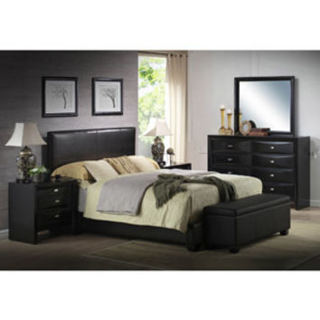 Walmart: Ireland King Faux Leather Bed, Black