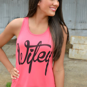 Coral Wifey Tank Top