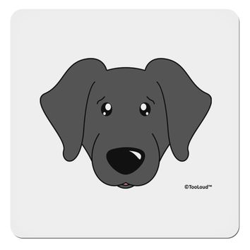 "Cute Black Labrador Retriever Dog 4x4"" Square Sticker by TooLoud"