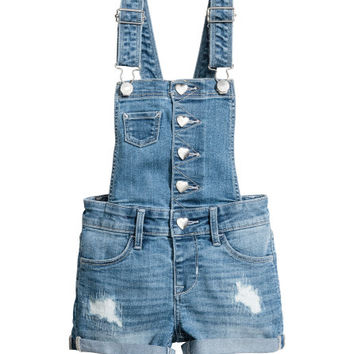 Denim Bib Overall Shorts - from H&M
