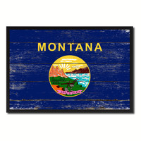 Montana Flag Canvas Print, Picture Frame Gift Ideas Home Décor Wall Art Decoration