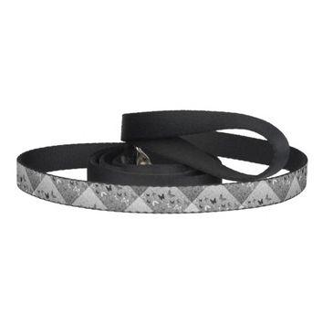 Black n White Butterflies Dog Leash