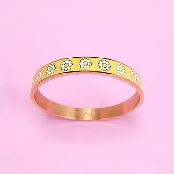 Daisy Chain Bangle Bracelet